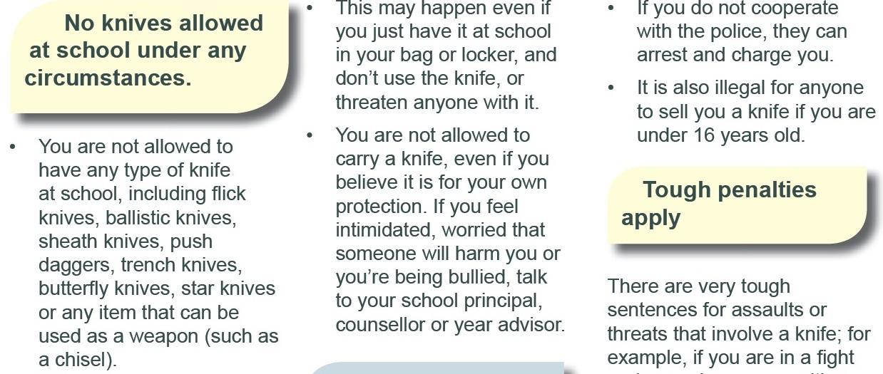 No Knives at School - Granville Boys High School